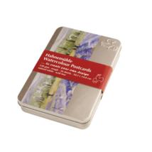 Hahnemühle akvarell képeslaptömb fém dobozban rough felület 230 g/m2