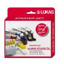 Lukas Studio olaj kezdőkészlet 6 × 20 ml ajándék ecsettel