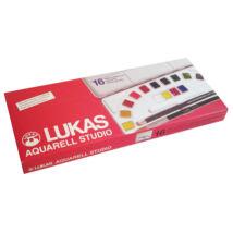 Lukas Aquarell Studio készlet 16 × 1/2 szilke + ecset + ceruza