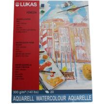 Lukas Venezia Rough 300g/m²  36×48 cm akvarellpapír tömb