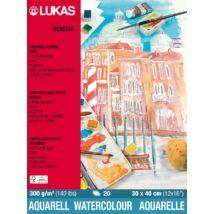 Lukas Venezia Rough 300 g/m2 36 × 48 cm akvarellpapír tömb