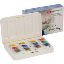 White Nights 12 szilkés akvarellfesték készlet ergonómikus műanyag dobozban
