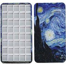 Ali 40 darabos fém akvarell szilketartó Van Gogh - Csillagos éj