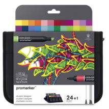 ProMarker Winsor&Newton 24 db-os Dizájner tanuló (Student Designer) filctoll készlet