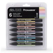 ProMarker Winsor&Newton 6 db-os pastel filctoll készlet