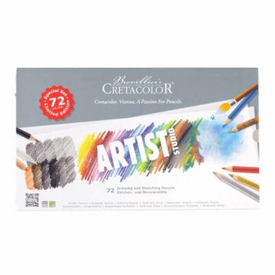 Cretacolor Artist Studio 72 db-os rajz- és vázlatkészlet arany ezüst színesceruz