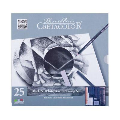 Cretacolor Black & White Box 25 db-os rajzkészlet