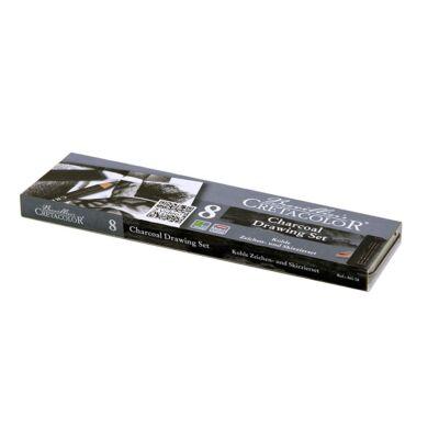 Cretacolor szénceruza és krétakészlet 8 darabos-  Charcoal Pocket Set
