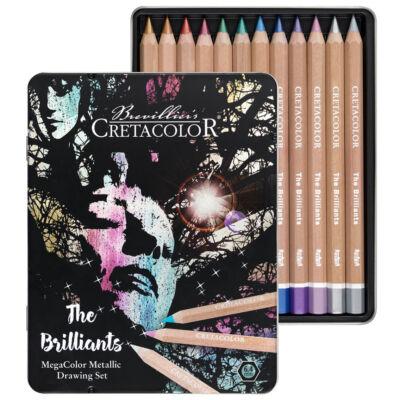 Cretacolor The Brilliants 12 db-os metál színű ceruza készlet