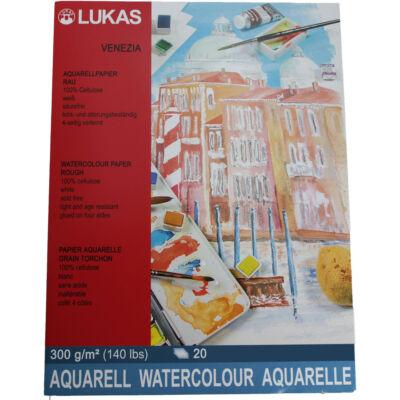 Lukas Venezia Rough 300 g/m²  36 × 48 cm akvarellpapír tömb