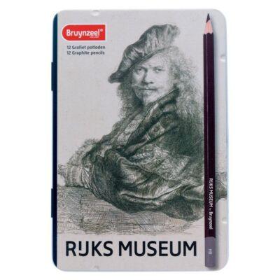 Bruynzeel 12 db-os grafit ceruza készlet Rembrandt önarckép, RIJKS MUSEUM