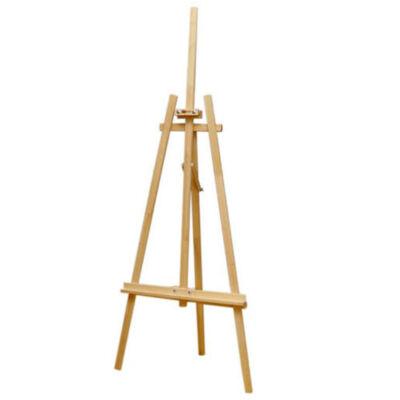 fenyő fa 3 lábú, beltéri, műtermi festőállvány