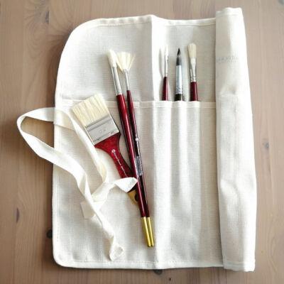 Sonnet feltekerhető textil hosszúnyelű ecsettartó 18 darabos